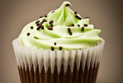 Bliss Edibles Mint Chocolate Cupcake