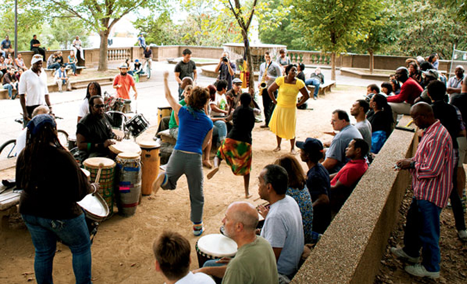 Join the Drum Circle at Malcolm X Park